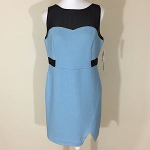 Kensie blue sleeveless sheath dress size Large NEW